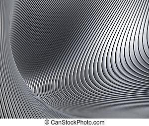 Abstraer formas metálicas de fondo