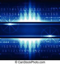 Abstraer futuros conceptos de tecnología digital, vector