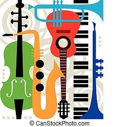 Abstraer instrumentos de música vectorial