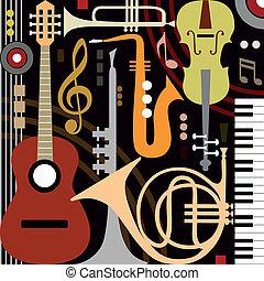 Abstraer instrumentos musicales