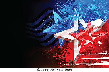 Abstraer la bandera americana