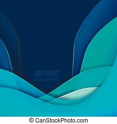 Abstraer la luz azul vector fondo. Forma una transición suave y olas.