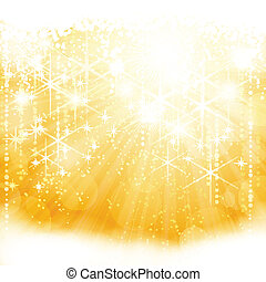 Abstraer la luz de oro rebosante de estrellas y luces borrosas