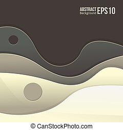 Abstraer la luz gris vector de fondo. Forma una transición suave y olas.