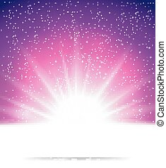 Abstraer la luz mágica de fondo