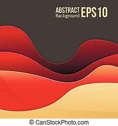 Abstraer la luz roja vector de fondo. Forma una transición suave y olas.