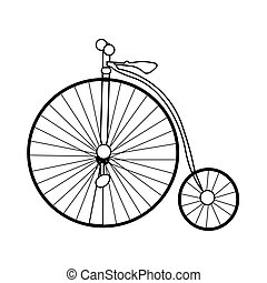 Abstraer la vieja bicicleta