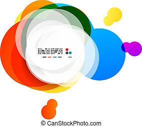 Abstraer los círculos arco iris modernos