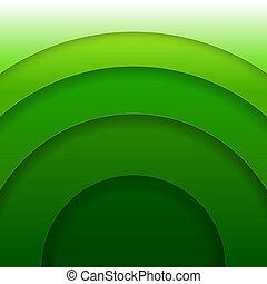 Abstraer los círculos de papel verde vector de fondo