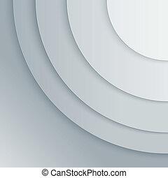 Abstraer los círculos grises de papel gris vector de fondo