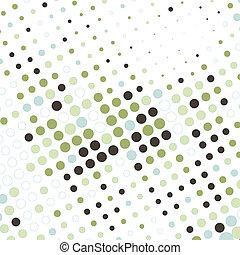Abstraer los negocios con puntos coloridos