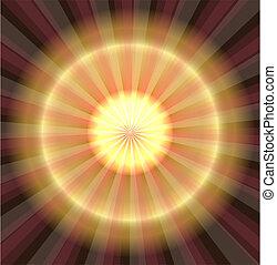 Abstraer luz láser dorada