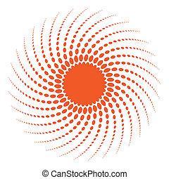 Abstraer medio elemento de diseño solar.