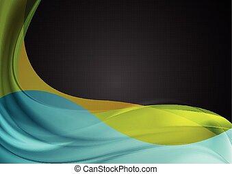Abstraer ondas de colores suaves vector de fondo