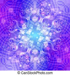 Abstraer patrón de bala azul-violeta con luces