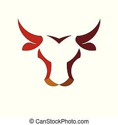 Abstraer simple logotipo de la cabeza de toro