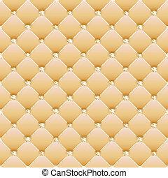 Abstraer tapicería en un fondo amarillo. Vector.