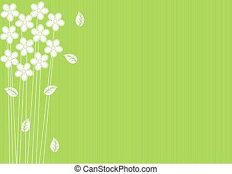 Abstraer un fondo verde con flores