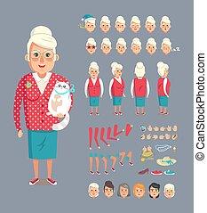 Abuela constructora ilustración vectorial
