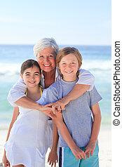 abuela, ella, nietos