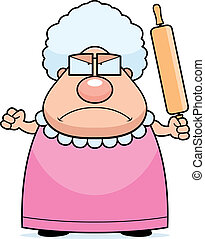 Abuela enojada