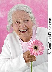abuela, grande, reír