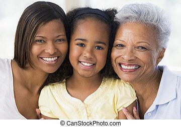 abuela, hija, adulto, nieto
