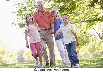 abuelos, ambulante, grandchildren.