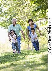 abuelos, corriente, nietos