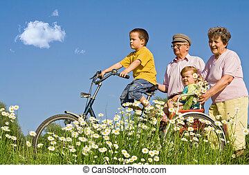 abuelos, paseo