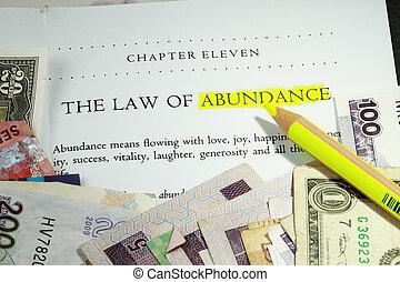 abundancia, ley