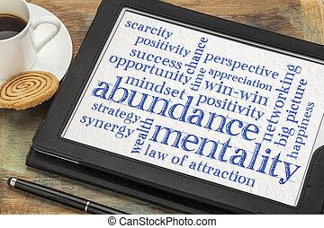 abundancia, nube, mentalidad, palabra