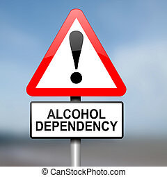 abuso, concept., alcohol