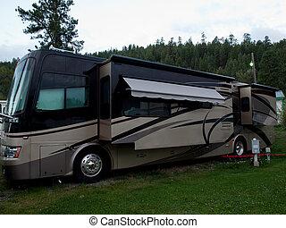 Acampado en caravana