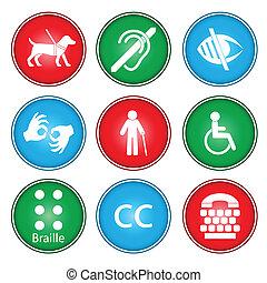 accesibilidad, iconos