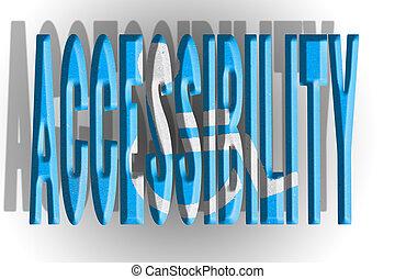 accesibilidad, ilustración, cartas