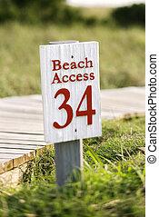 Acceso a la playa en la isla calva.