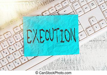 acción, oficina, execution., vacío, imposes, señal, rectángulo, suministros, papel, foto, wood., orden, formado, él, teclado, conceptual, blanco, recordatorio, texto, executes, programa, o, curso, actuación