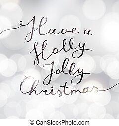 acebo, navidad, alegre