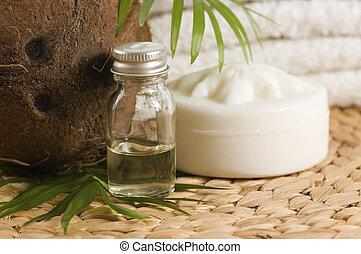 Aceite de coco para terapia alternativa