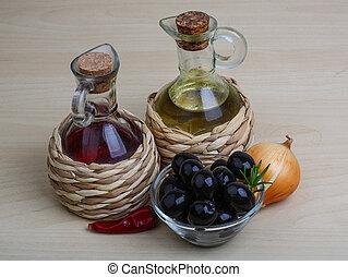 Aceite de oliva y vinagre