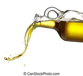 aceituna, el verter, aceite