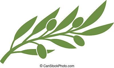 aceituna, symbol), (olive, rama
