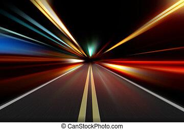 Aceleración de velocidad por la noche