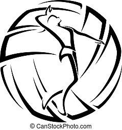 Acento femenino de voleibol