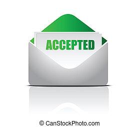 Aceptada (Letter) ilustración