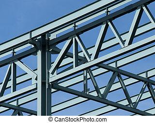 acero, marco, construcción