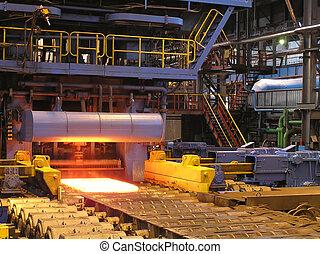 acero, producción, sheet.