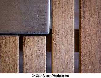 Acero y madera de fondo abstracto