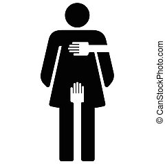 Acoso sexual, signo de mujer